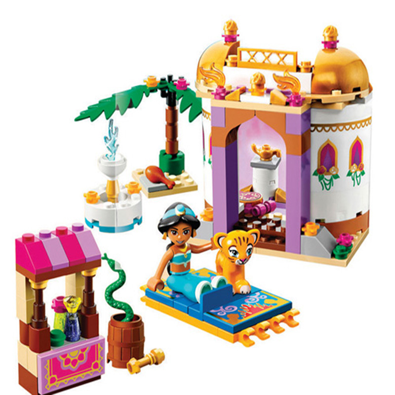 10434 Princess Jasmine Exotic Palace Building Bricks Blocks Sets El mejor regalo Juguetes compatibles LegoINGly Friends 41061 para niñas