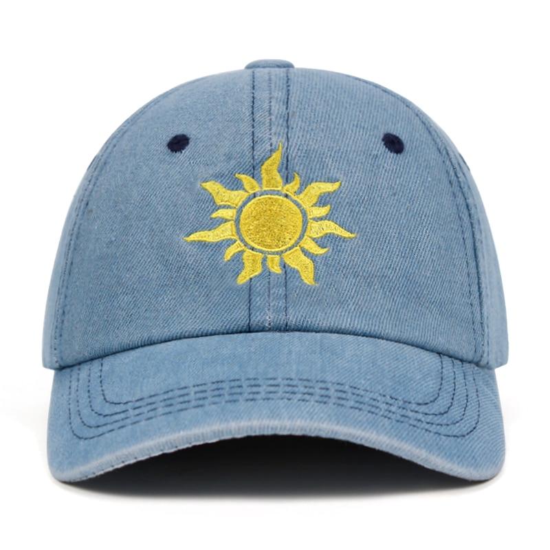 Denim Sun Dad Hat Snapback Cap 100% Cotton Baseball Cap For Men Women Cowboy Cotton Hip Hop Golf Caps Bone Garros