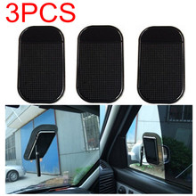 3pcs/lot Free Shipping Car Use Black Anti Slip Mat Silicon Gel Sticky Pad For Phone GPS PDA MP3 MP4