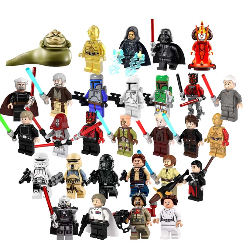 Single Sale Star Wars Figures Palpatine Jabba Queen The Sith Baze Jedi Knight Han Solo Boba