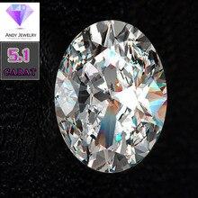 10*12mm Oval Cut 5.1 carat VVS Moissanite Super White Loose Diamond for Wedding Ring