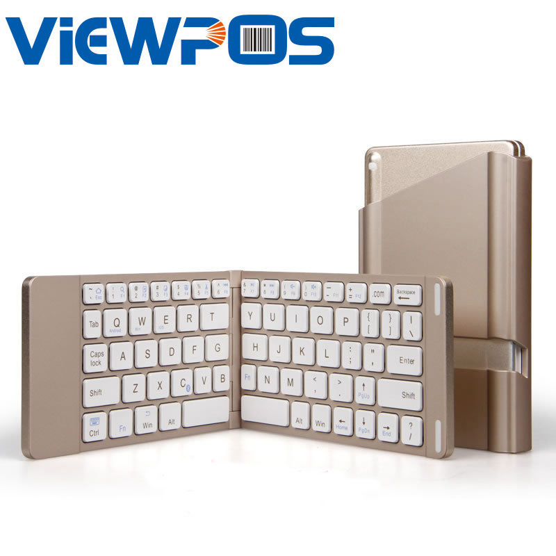Foldable Bluetooth Wireless Keyboard mini Portable Keypad Suitable for Laptops Tablet PC Mobile Phones Bluetooth connectivity