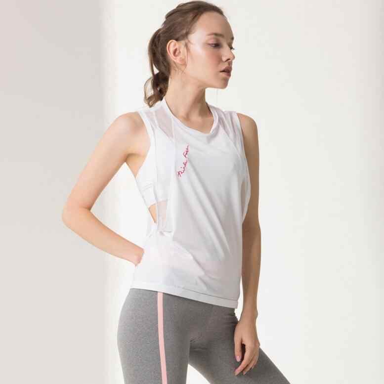 Черная Прозрачная майка для йоги, майка для бега, одежда для тренировок, Женская белая блузка для фитнеса и фитнеса, футболка без рукавов