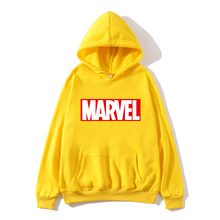 2019 autumn and winter brand sports shirt ladies high quality MARVEL letter printing fashion hoodie thick men women