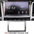 For Hyundai Tucson 3rd 2016 2017 Car Center Console Navigation Covers Chrome Trim Chromium Styling Decorative Accessories