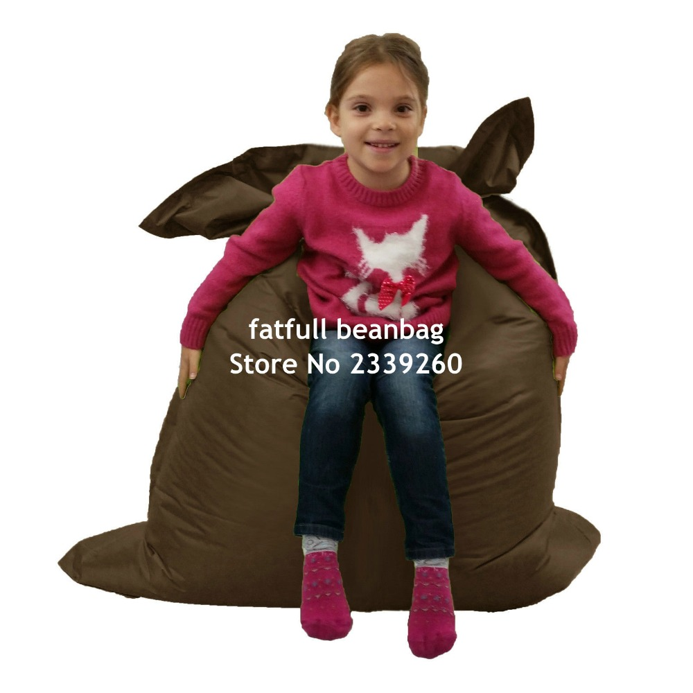 Bean bag chairs price - Cover Only No Filler Brown Waterproof Outdoor Children Junior Bean Bag Chair China