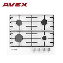 Встраиваемая варочная панель AVEX NS 6040 W, поверхность белая эмаль, электро-поджиг