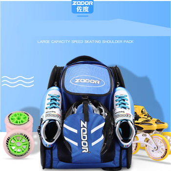 New Arrival Inline Speed Skates Backpack for 4X90mm 4X100mm 4X110mm 3X110MM 3x125MM Skating Bag Helmet Protect Pads Container