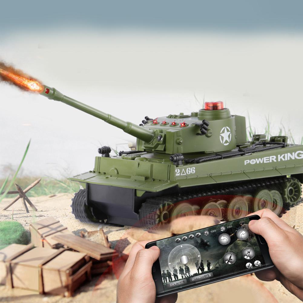 LeadingStar 1:32 RC Tank Battle Crawler Simulatie Bluetooth Remote Controle Twin Battle Tank Set RC Car Gift цена и фото