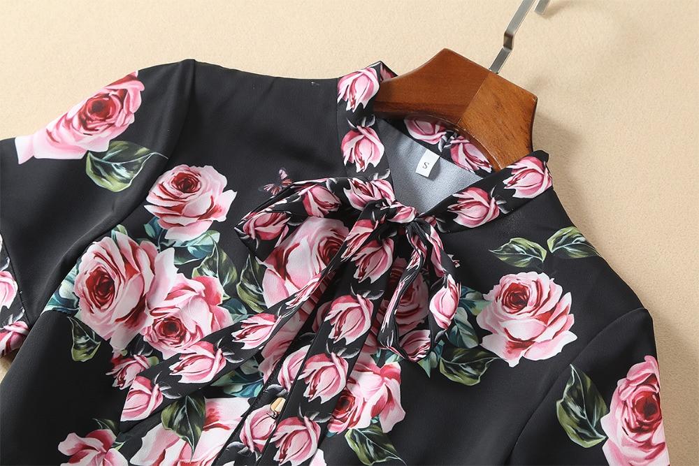 Женское короткое платье с бантом See Orange, черное/розовое вечернее платье с розовым бантом на осень, модель ND2307 - 3