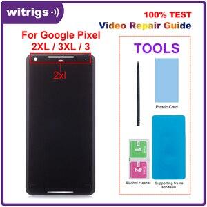Image 1 - עבור גוגל פיקסל 2 XL 2XL LCD תצוגת מגע P OLED מסך Digitizer עצרת החלפת חלק עבור גוגל פיקסל 2 3 3 4 XL LCD