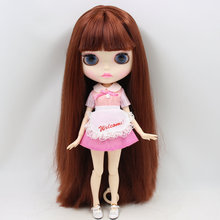 ICY Neo Blythe Doll Red Brown Hair Jointed Body 30cm