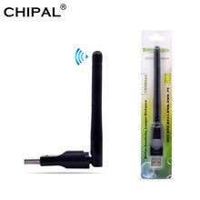 CHIPAL USB Wifi Adapter 150Mbps Wi fi Adapter 2.4 ghz Antenna USB Ethernet PC Wi-Fi Adapter Lan Wifi Dongle AC Wifi Receiver(China)
