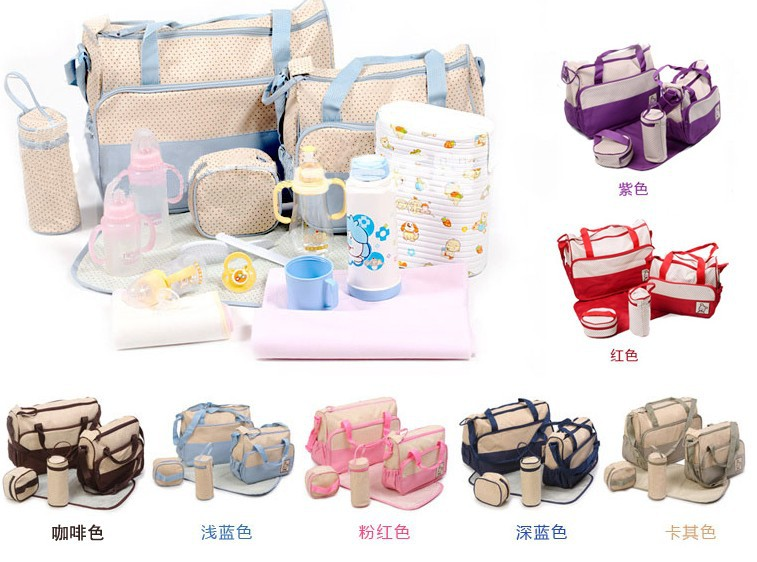 Changing Bags Baby Changing & Nappies Mummy Hug Multi-Function Baby Diaper Nappy Bag/Mummy Changing Set Handbag