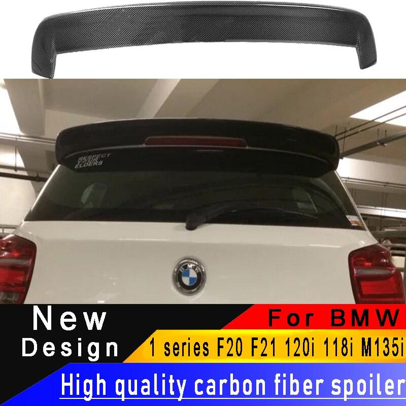 For BMW 1 series F20 F21 120i 118i M135i hatchback carbon fiber spoiler high quality carbon