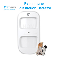 wireless pet immune motion detector small animal(less than 25kg) automatic ignore human movement alarm sensor etiger ES D2A