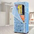 Armario combinación de marco de acero reforzado paño plegado fácil armario paño simple almacenamiento armario paño plegable montaje