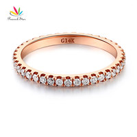 Peacock Star 14K Rose Gold Stackable Wedding Band Ring Eternity 0 42 Ct Natural Diamonds
