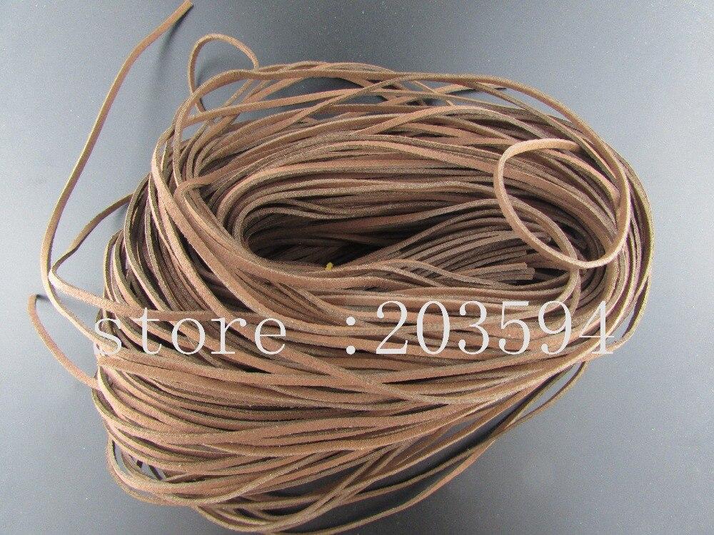 VNC1! 5 м 3x1.5 мм светло-коричневого цвета из искусственной замши шнур кожаный шнурок для одежды обувь ювелирные изделия делая выводы 5 м/лот