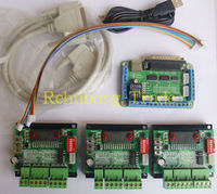 Free shipping CNC 3 Axis TB6560 Stepper Motor Driver Controller Board Kit,nema 23 two phase,3A