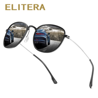 d4fd6126c3cc28 ELITERA Men Luxury Round Sunglasses Women Brand Designer Retro Rim Sunglass  Mirror Polarized Sun Glasses