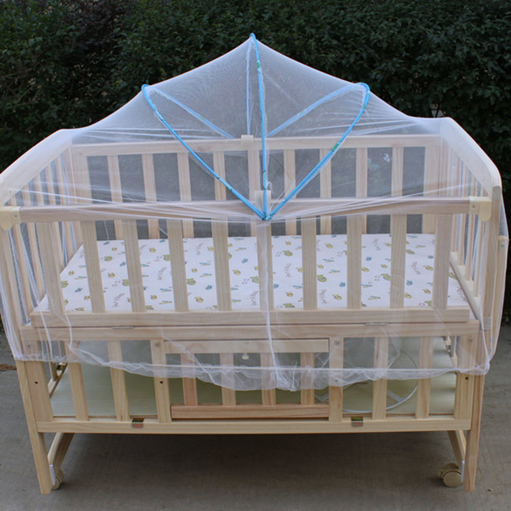 Delicate Universal Babies Cradle Bed Mosquito Nets Summer Safe Arched Ger Type Mosquitos Net for Kids Bumpers