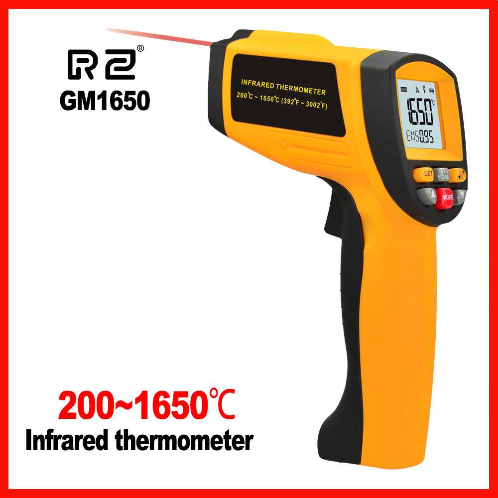Non-Contact High precision LCD display IR Infrared Digital Handheld Temperature Gun Thermometer RZ GM1650 цена