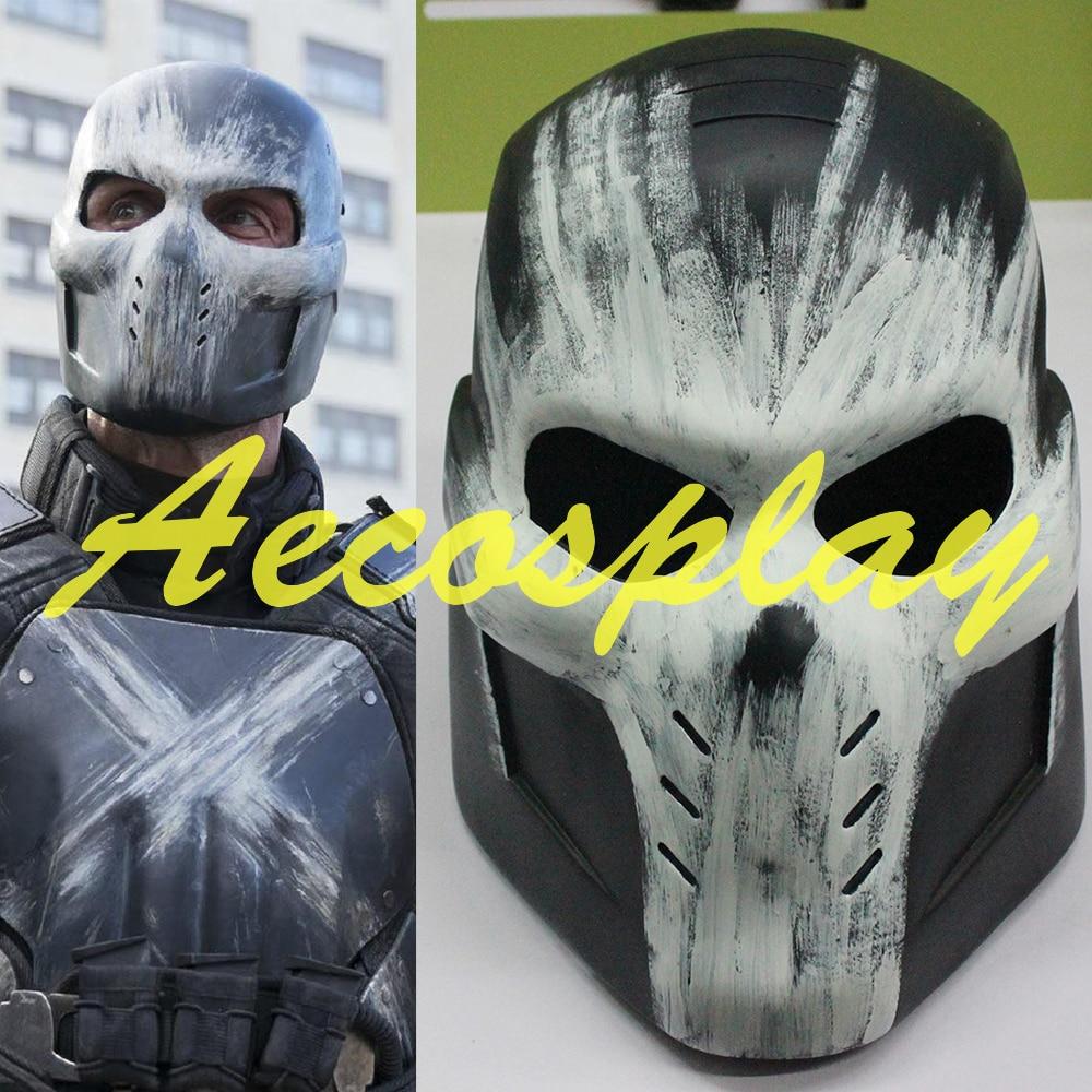 2016 film Captain America 3 guerre civile Cosplay Crossbones casque masque PVC Halloween Brock Rumlow Cosplay casque pour