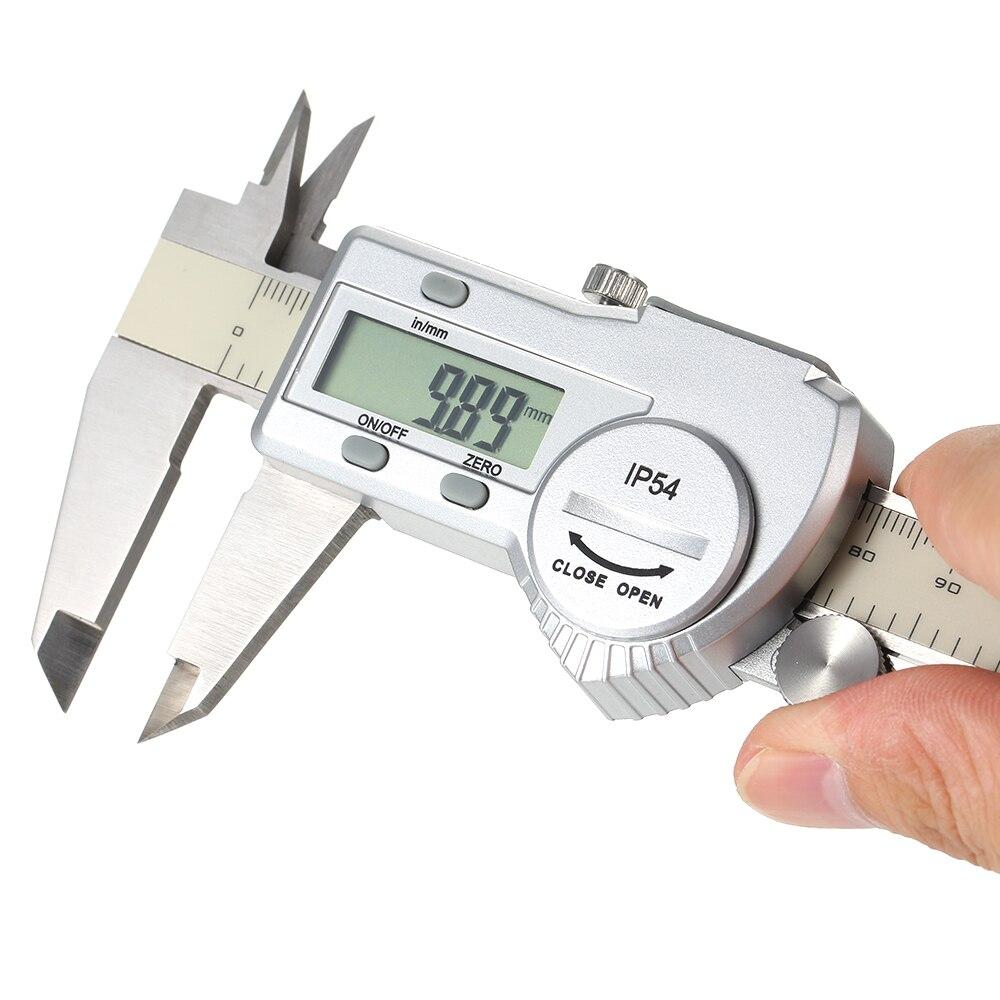 Outil de mesure acier inoxydable pied à coulisse numérique 12