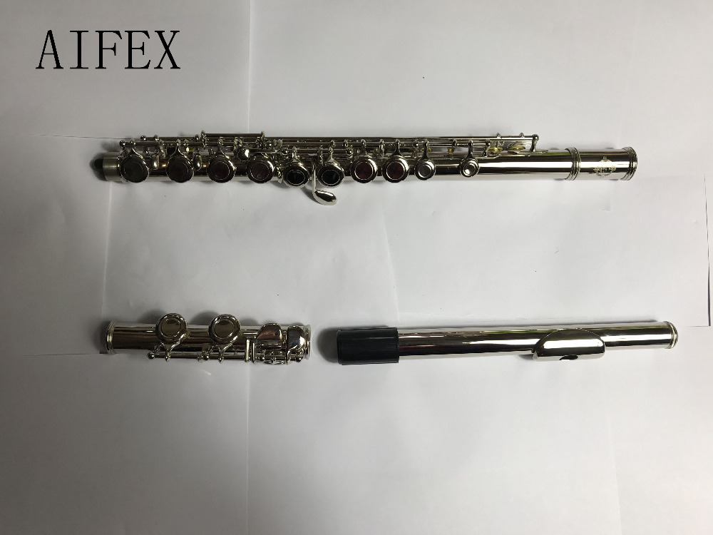flute professional Model flute 16 hole Open Silver Plated Key E key blue color new 1pcs flute 16 hole closed hole c tone e key advance model red professional new