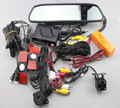 Видеодатчик парковка 4.3 '' жк-дисплей TFT монитор с плоским датчики парковки 4 парктроники + + камера