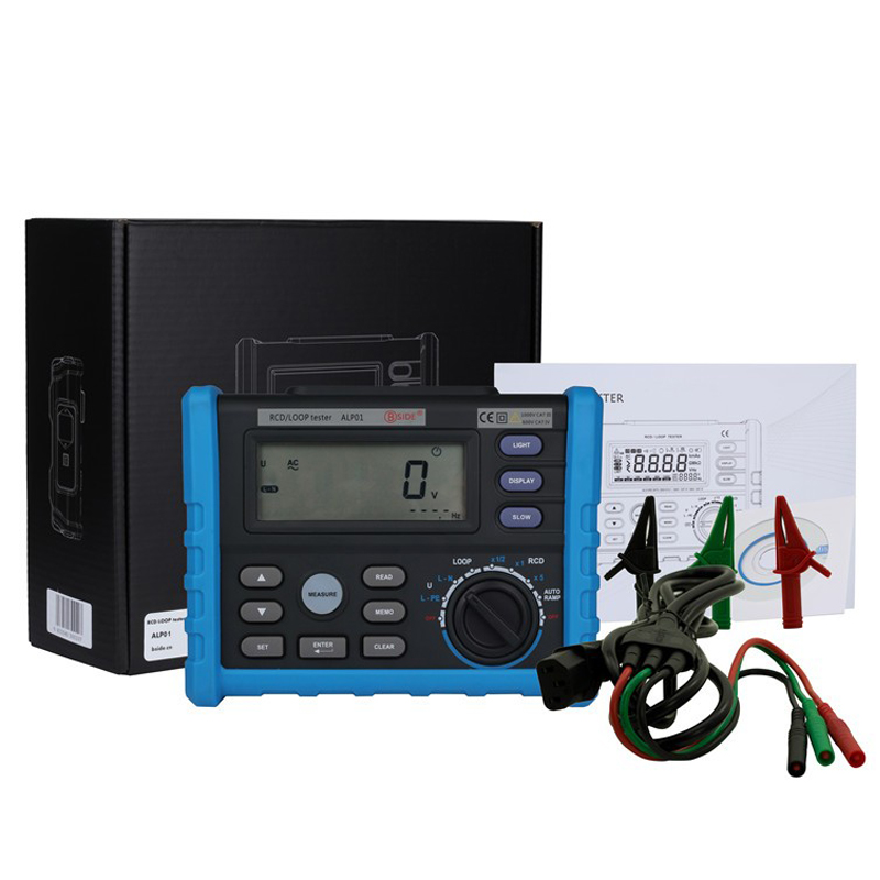 Bside ALP01 Professional LOOP/RCD Tester Trip-out Time & Current Voltage Frequency Loop Resistance Measurement & USB cable & box подсвечник loop хром медь 1281248