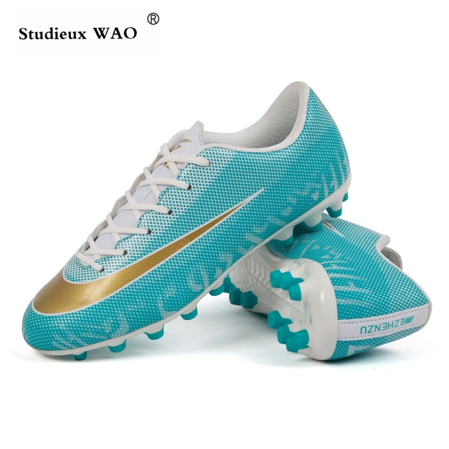 1a79e09a930 Artificial Grass Ground Soccer Cleats Football Shoes Men Women Outdoor Lawn  Professional AG Spike Superfly Futebol Boots Kid Hot