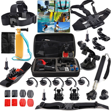 for Gopro Accessories kit for Gopro hero 1 2 3 5 Chest Head Wrist Mount Strap Hand bobber For Gopro SJCAM SJ4000 Action Camera