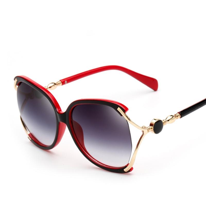 Modemerk Designer Oversized Dames Zonnebril UV400 Bescherming Dames - Kledingaccessoires