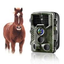 Goujxcy Cámara de rastreo HC800A, 1080P, visión nocturna, LED infrarroja, cámara de caza, impermeable, vida salvaje, foto de cámara, trampas, cámara