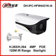 Dahua Sternenlicht 4 Megapixel DH-IPC-HFW4431K-I4 Netzwerk IP Kamera POE IP67 wetterfeste 120 Mt Lange IR IP Web-kamera mit halterung