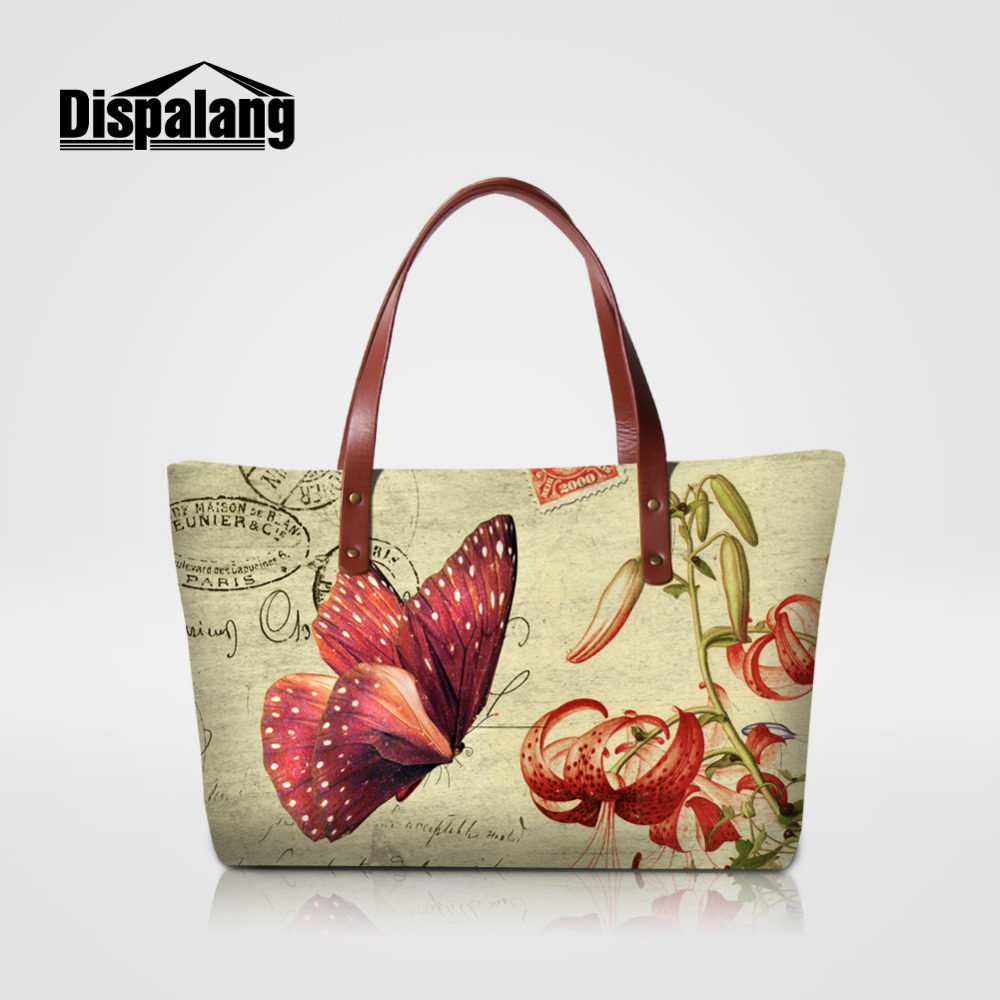 Dispalang Summer Women Handbag Butterfly Printed Shoulder Bag Bucket Ladies Purse Casual Shopping Bag Large Capacity Tote Bolsos