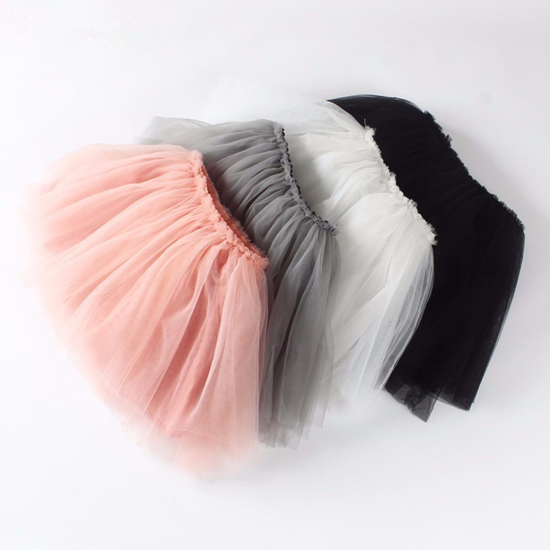 Girls Tutu Skirt 2-7 Years Colorful Summer Fluffy Ball Gown Skirt Pettiskirt Toddler Girls Skirts Kids Baby Ballet Dance Skirts
