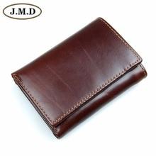 Мужской кошелек из натуральной кожи RFID тройной складной кошелек кредитный держатель для карт с защищенным окошком ID R-8105Q