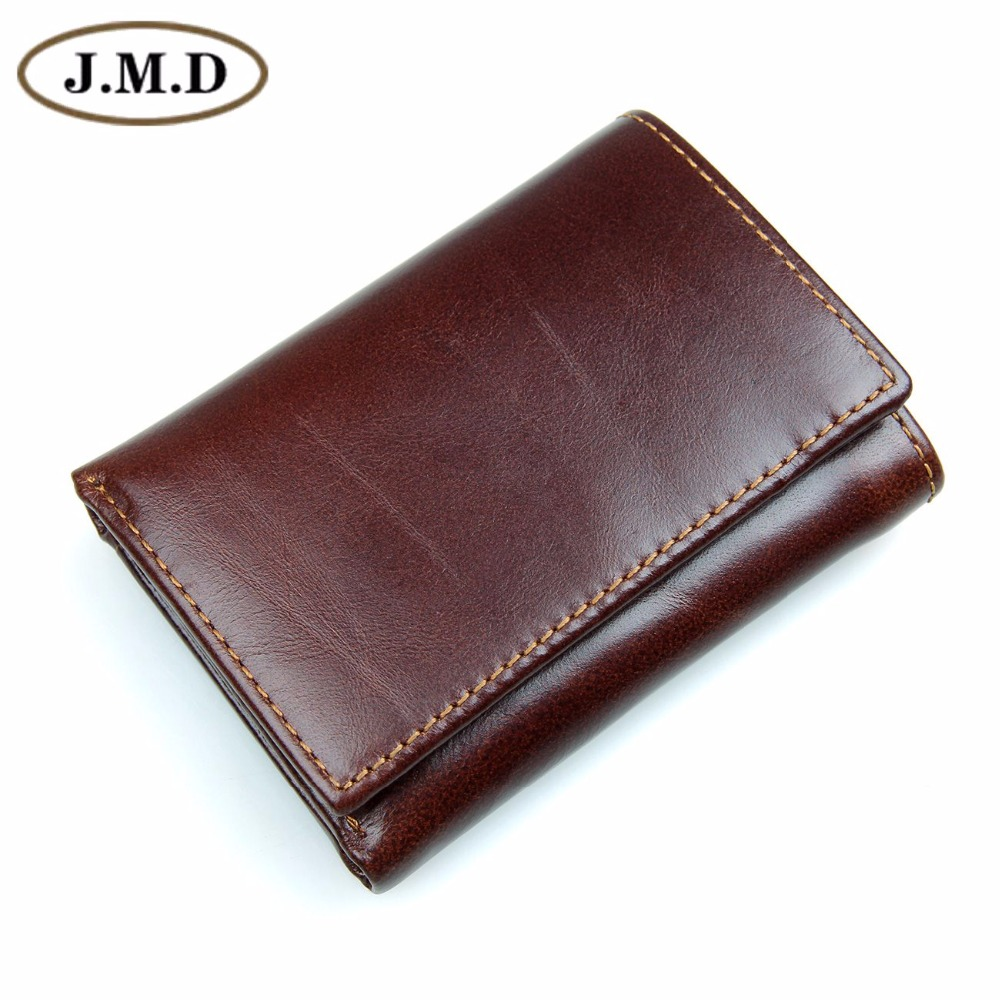 цена на J.M.D Genuine Leather Men's RFID Blocking Leather Trifold Wallet Credit Card Holder With Secure ID Window R-8105Q