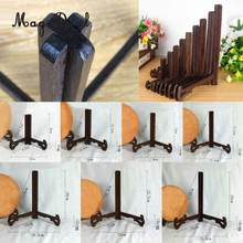 MagiDeal Wood Display Stand, Easel Plate Display Photo Holder Stand, Displays Picture Frames, Kitchen Cookbooks, Desk Stand(China)