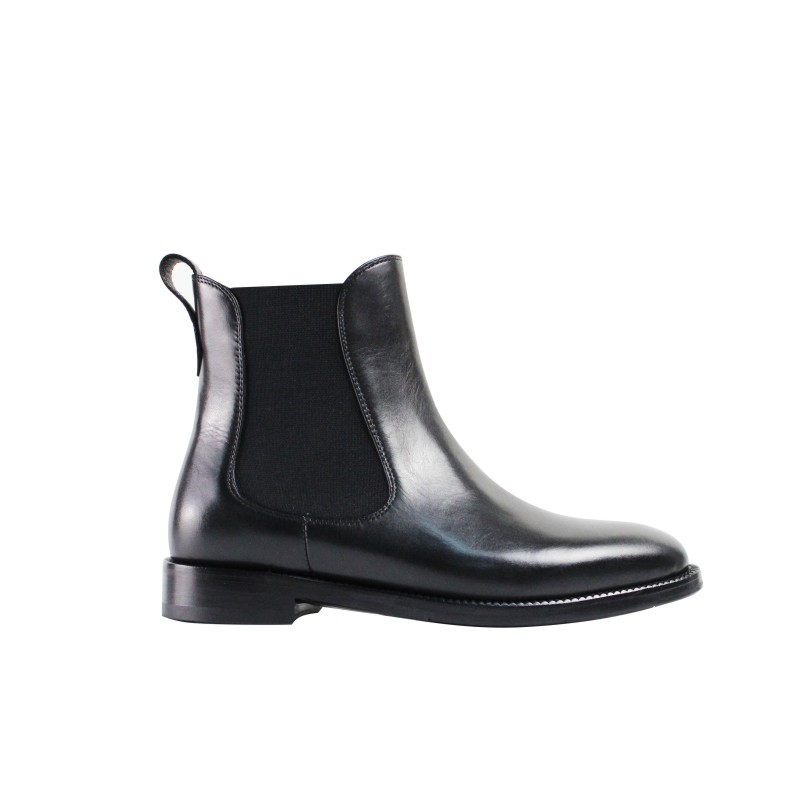 Noir Chelsea Botas 2019 Black Femmes Faminino Bottines Véritable Peau Chaussures Bottes Main Vikeduo Mujer Automne Nouvelle Femme Veau Pour Solide BwxvqTY