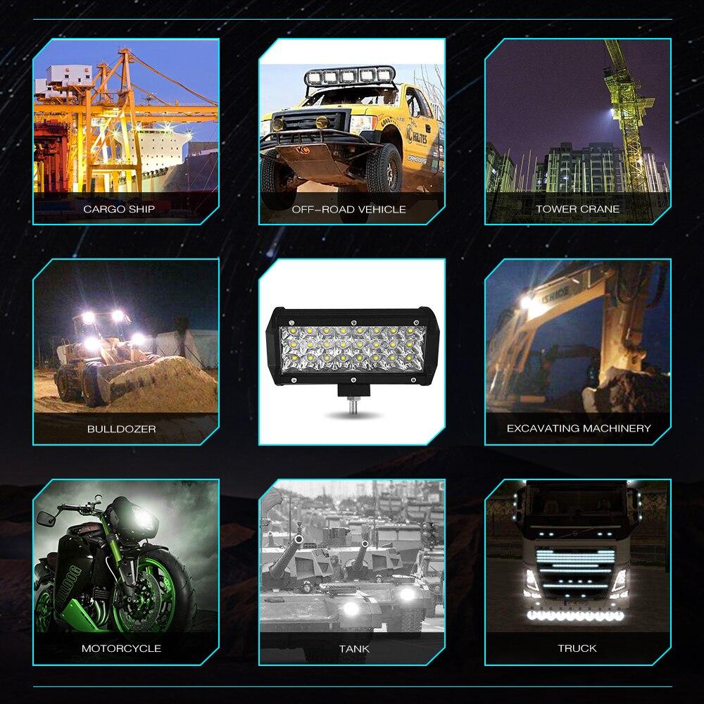 Image 5 - 300W 120W 72W 36W 12 Volt Led Bar Werklamp Ramp Lightbar Led Spot Offroad Work Light Worklight Driving Lights Auto Accessories-in Light Bar/Work Light from Automobiles & Motorcycles