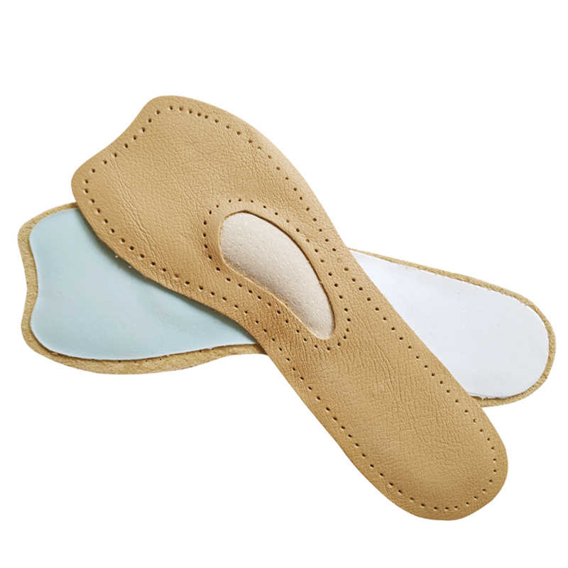 Kadınlar rahat deri astarı Metatarsal Ped ön ayak masaj ortopedik Tabanlık için Yüksek topuklu ayakkabı Pompaları