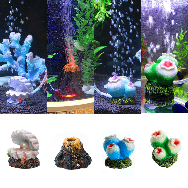 Visork Air Stone Mineral Bubbles Bubbles Stone Release Air Stone Pump Bubble Stone Applicable to aquarium or fish tank and so on Star shape