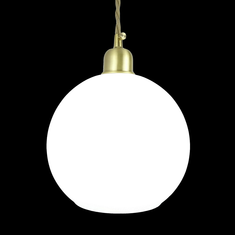 D200mm white glass round ball shade fabric wire pendant lamp fixture brass drop modern home lighting bedroom cafe decoration d180mm brass bell copper cone lampshade fabric wire pendant lamp fixture brass lighting for cafe restaurant ceiling room led