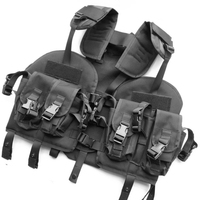 Adjusted U S Navy Seals Modular Assault Vest Hunting Tactical Vest Hump Water Pouch For Outdoor
