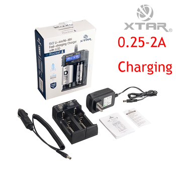 3 in 1 Original XTAR SV2 Battery Charger With LCD Display Car Charger Fast Charger For Ni-MH Li-ion16340 18650 22650 26650 32650 Battery Chargers