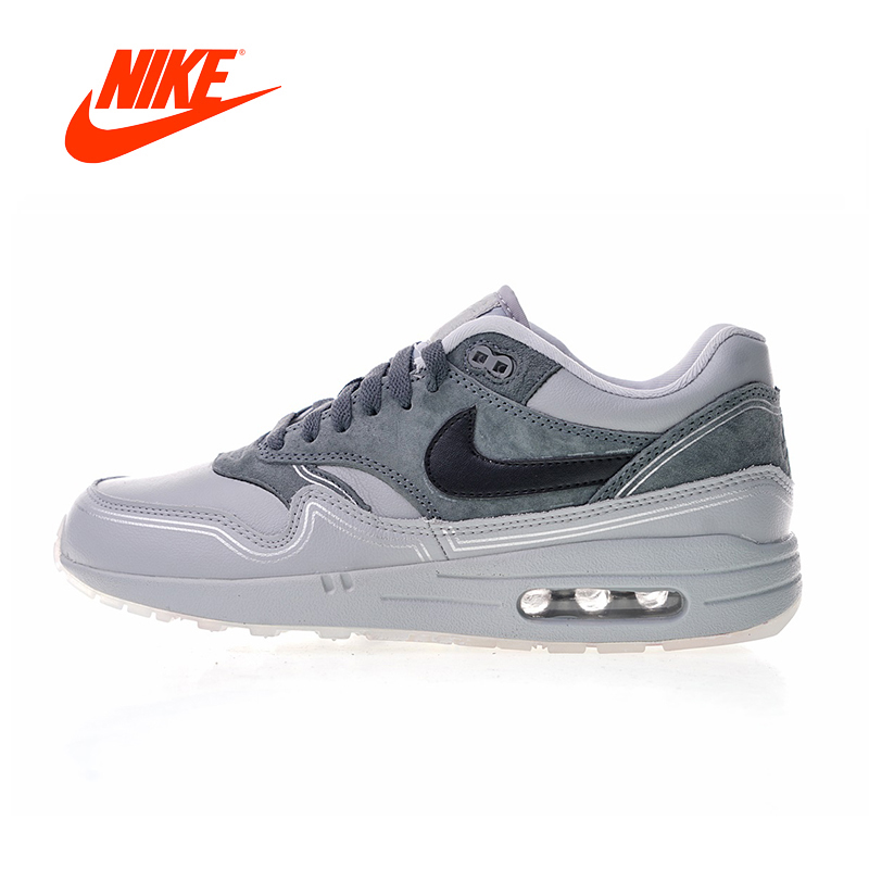 Original New Arrival Authentic Nike Air Max 1 Pompidou Men's Comfortable Running Shoes Sport Outdoor Sneakers AV3735-001